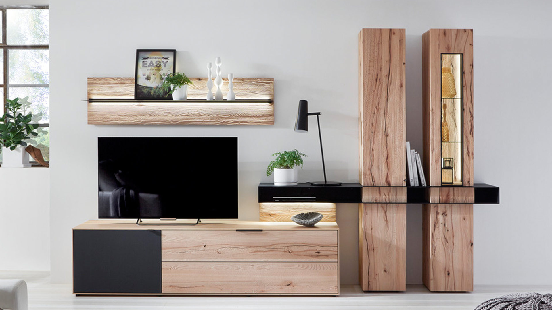 holz schrank wohnzimmer einrichtung, hertel möbel e.k. gesees, räume, wohnzimmer, schränke + wohnwände, Design ideen