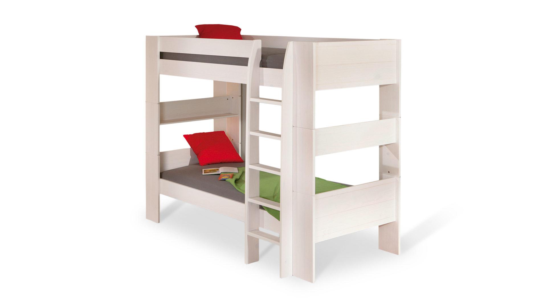 Hochbett Holz Massiv Weiß : Hertel möbel e.k. gesees etagenbett dream well 3 ein