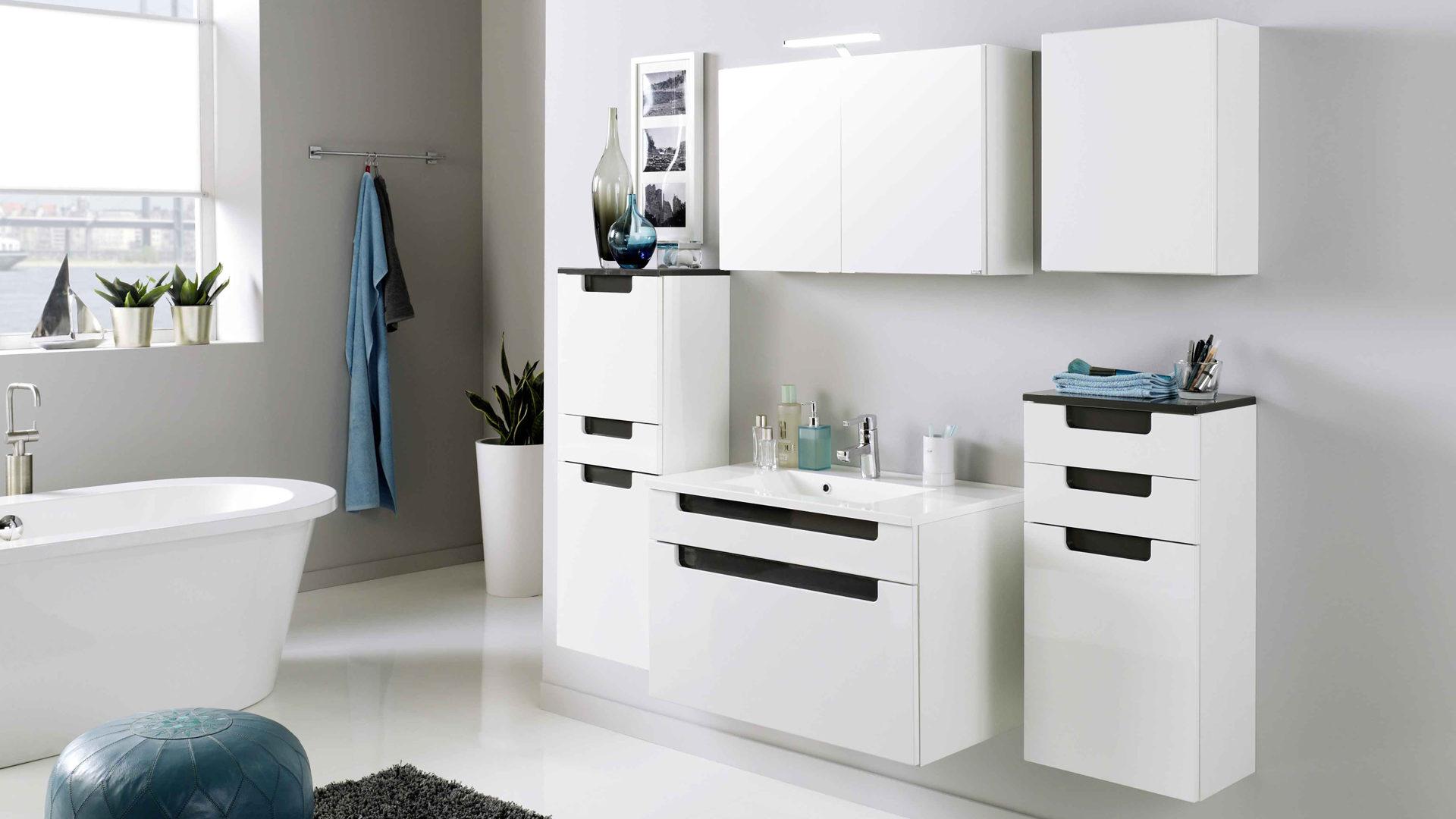 Moderne Badezimmermöbel Schwarz | gispatcher.com | {Badmöbel modern grau 49}