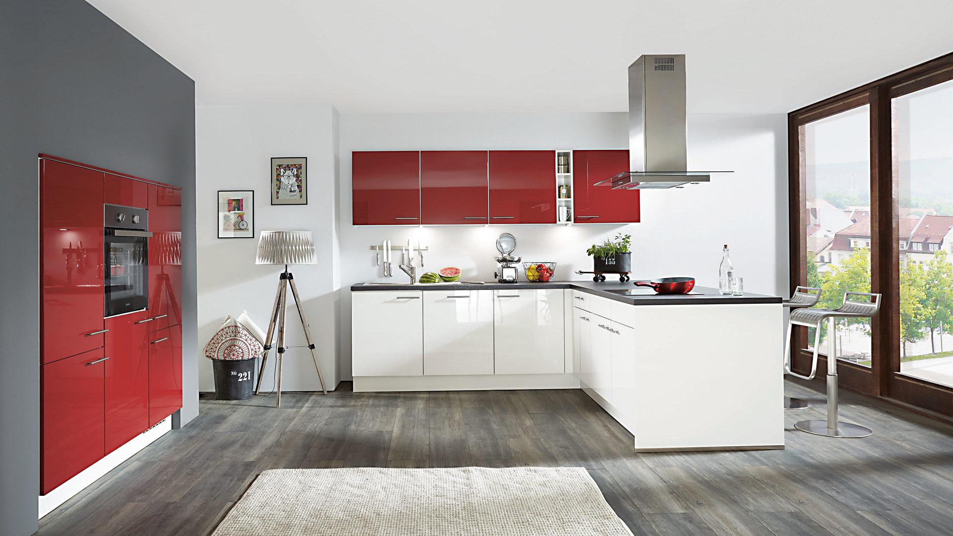 Fantastisch Schwarz Weiß Küche Ideen Und Rot Galerie - Ideen Für Die ...