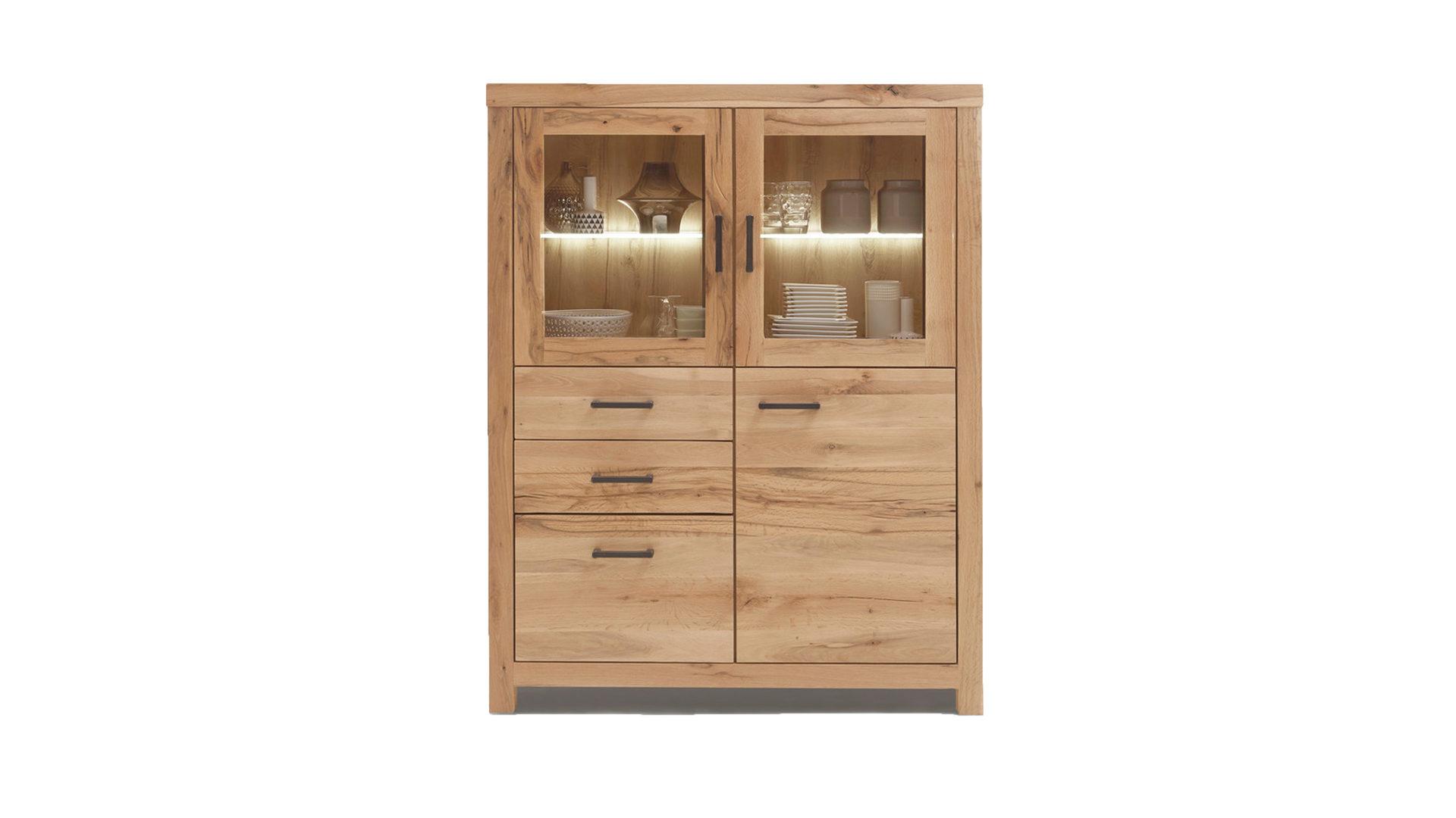 Hertel möbel gesees räume wohnzimmer kommoden sideboards woods trends highboard strukturgehobelte balkeneiche mit wachseffekt ca